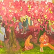Families and Cherries 30 x 40 2013