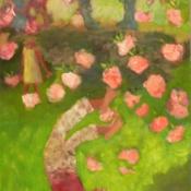 Handstand Under Cherries 48 x 24 2013
