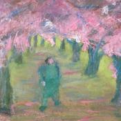 Man Under Cherries