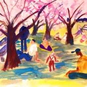 cherry Spring Day, 12X 16 2006