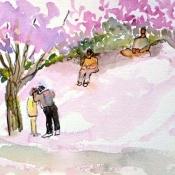 Pink Snow Hill
