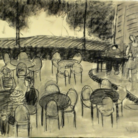 Meyer Lansky Lounge Havanah 22 x 30 Carcoal 2016